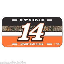 2015 TONY STEWART #14 STEWART HAAS RACING LICENSE PLATE CAMO NASCAR
