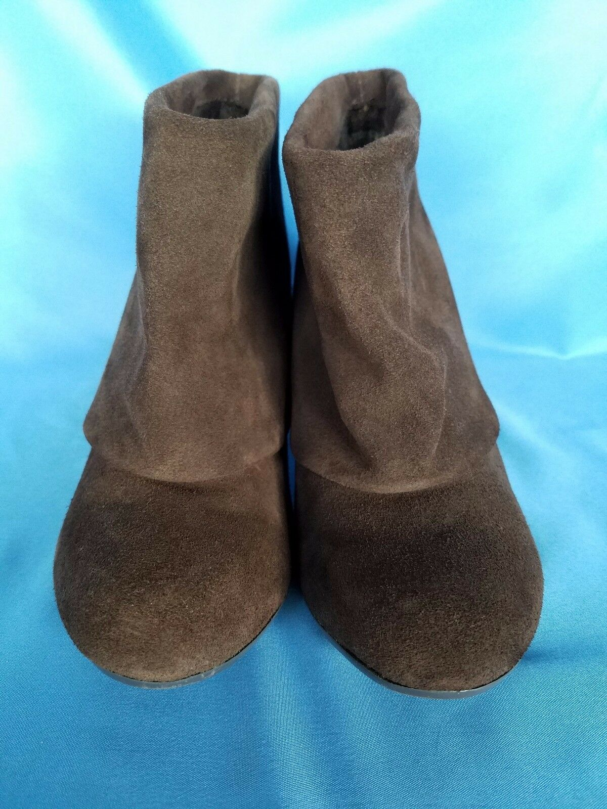 "Steve Madden Brown Size Suede Leather Ankle Boots Size Brown 6.5 M 3.5"" Heel 1b6af7"