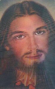 Cartel Estampa Piadosa Holograma Lenticular Jesús el San Sudario de Turín