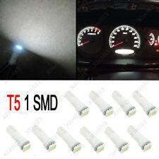 10x T5 White Dashboard Gauge 1SMD LED 5050 12V Wedge Instrument Panel Light Bulb