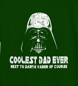 37aa05f59 Darth Vader Coolest Dad Ever Star Wars Funny T-Shirt Long Sleeve Tee ...