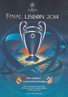 2014 UEFA CHAMPIONS LEAGUE FINAL ATLETICO MADRID v REAL MADRID MINT PROGRAMME