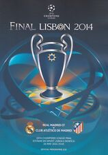 2014 UEFA CHAMPIONS LEAGUE FINAL ATLETICO MADRID v REAL MADRID MINT PROGRAMME