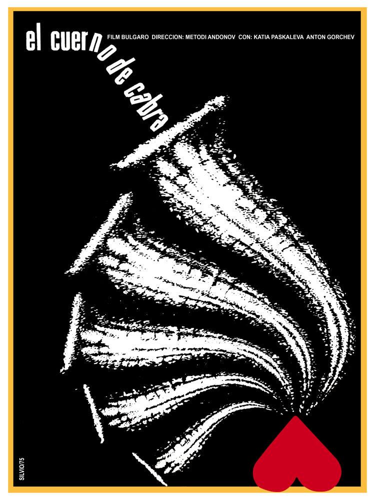 El Cuerno de Cabra B & W vintage Movie POSTER. Graphic Design.Art Decor.3405