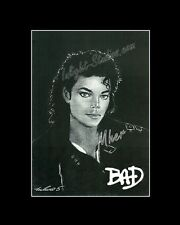Michael Jackson king of pop bad drawing from artist art image picture