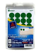 Avery 5463 Adhesive Removable Dot Labels 075 In Diameter Green 3 Packs Of 1008