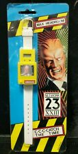 Vintage 1986 Max Headroom SEALED Digital Watch Style MH/1 White Yellow C5-9