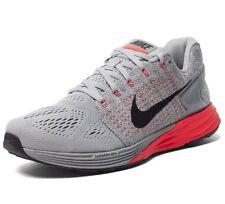 Nike Mens LunarGlide 7 Grey Wolf Crimson Training Sz 12 NIB $125 NEW