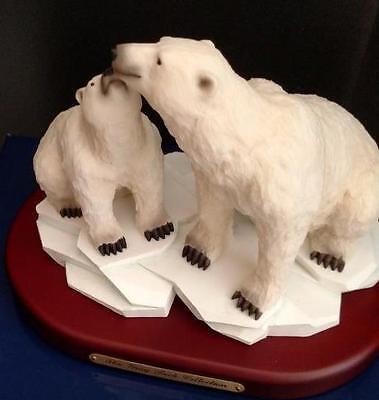 NEW The Gray Rock Collection Polar Bear+Cubs Wildlife Collectible Resin Figurine
