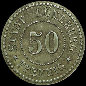 Notgeld: 50 Pfennig, ferro. Funck 310.5. città Lüneburg/Hannover.