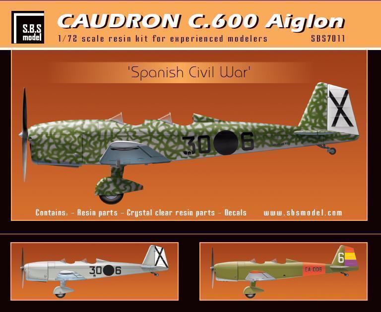 S.B.S Models, 1 72, 7011, Caudron C.600 Aiglon 'Spanish Civil War' full kit