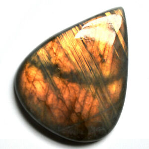 Cts. 90.00 Natural Sunset Fire Labradorite Cab Pear Cabochon Loose Gemstone