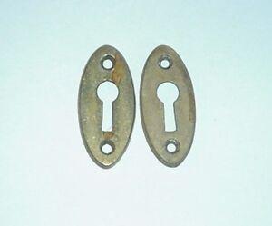 Brass Key Hole Cover Door Knob Hardware Escutcheons Antique Victorian