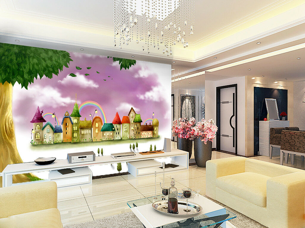 3D lila Clouds 404 Wallpaper Murals Wall Print Wallpaper Mural AJ WALLPAPER UK