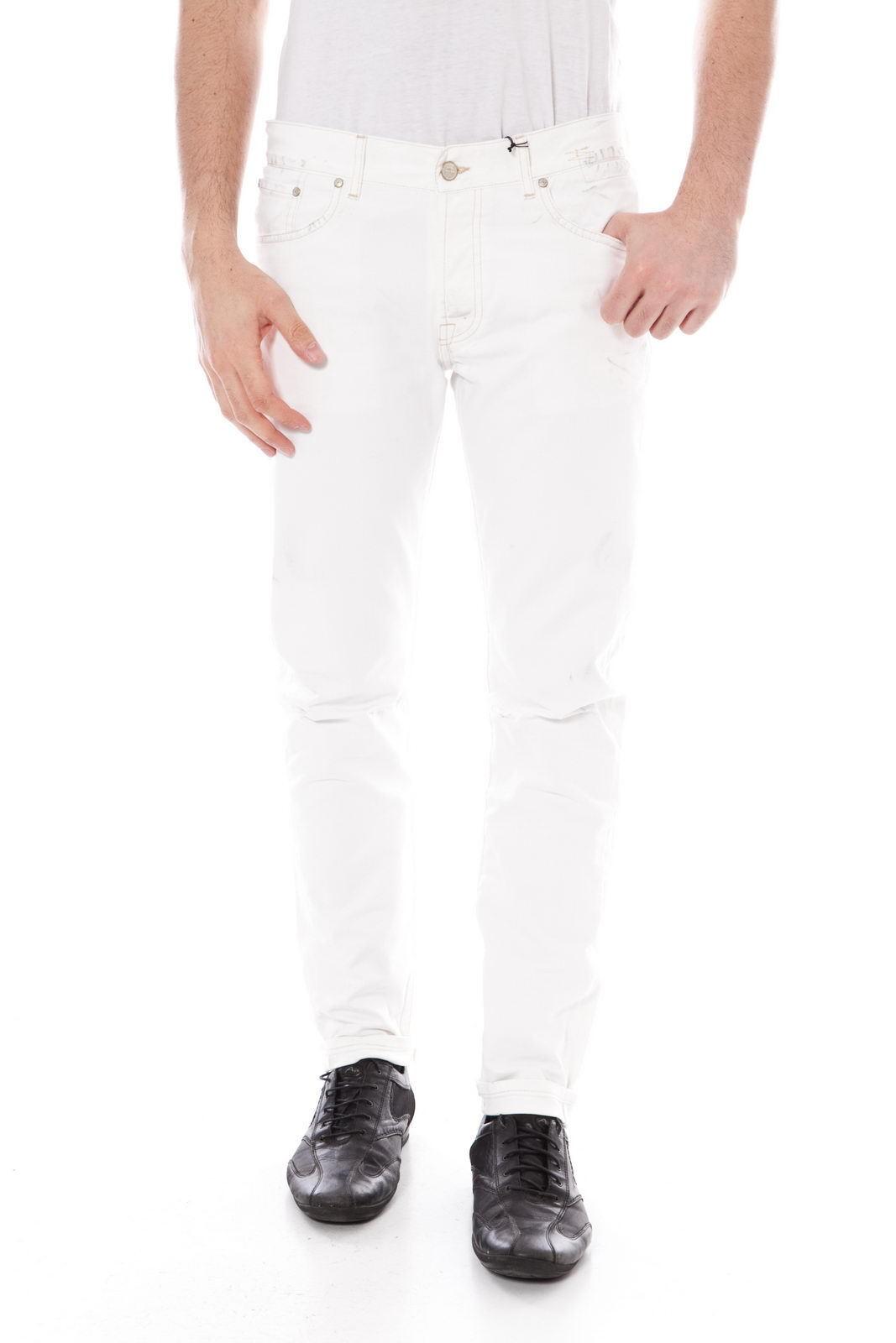 Pantaloni Daniele Alessandrini Jeans Trouser Cotone men Bianco PJ5261L232302 2