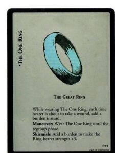 LORD-OF-THE-RINGS-LoTR-THE-GREAT-RING-THE-ONE-RING-19P1-AGES-END-TRADING-CARD