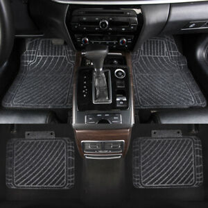 Car-Floor-Mats-Universal-Grey-Front-Rear-Non-Slip-Rubber-for-Sedan-Van-Truck-SUV