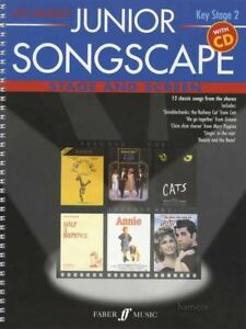 Section SpéCiale Junior Songscape Keystage 2 Scène Et écran Voix Vocal Sheet Music Book/cd-afficher Le Titre D'origine