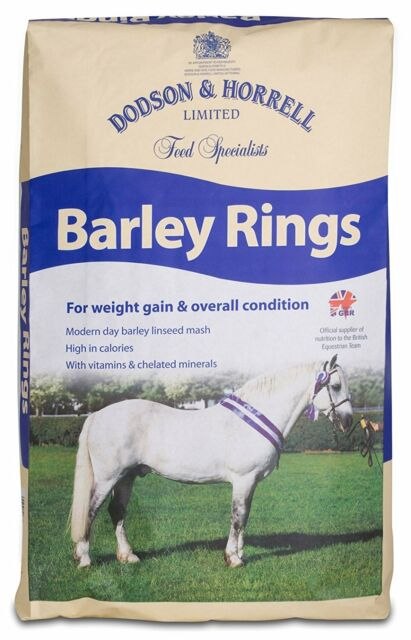 Dodson & Horrell Barley Rings High Calorie Horse Feed for Weight Gain 15kg