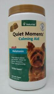 NaturVet Quiet Moments - Calming Aid Dog Supplement - 240 Soft Chews Exp: 03/23