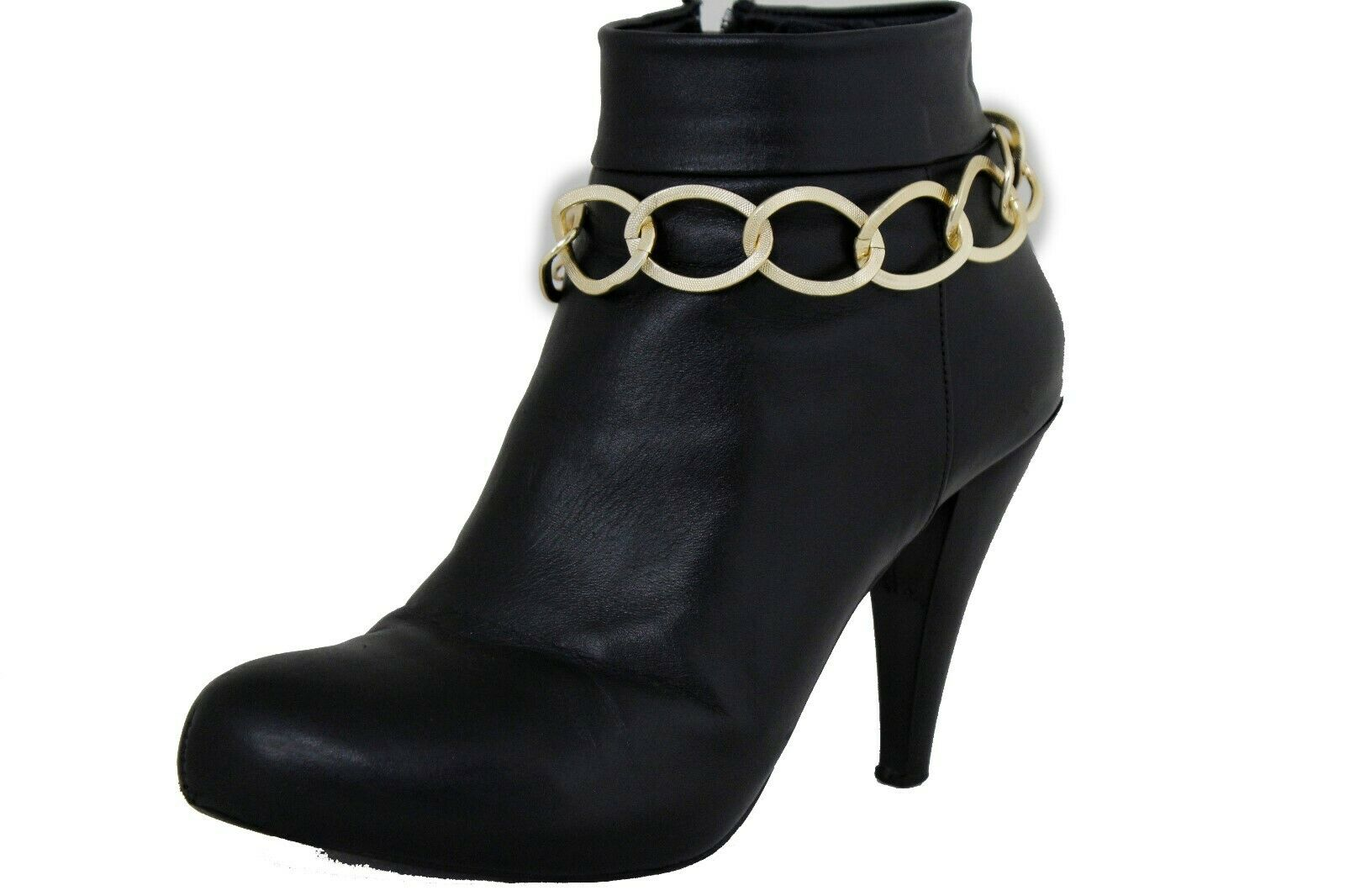 Women Fashion Jewelry Boot Bracelet Gold Metal Chain Thick Link Bling Shoe Charm