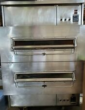 2 Split Belt Middleby Marshall 360 Double Stack Natural Gas Conveyor Pizza Ovens