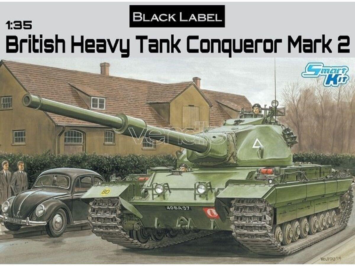 DRAGON BRITISH HEAVY  TANK CONQUEROR MARK II  Scala 1 35 Cod.3555  magasin d'usine
