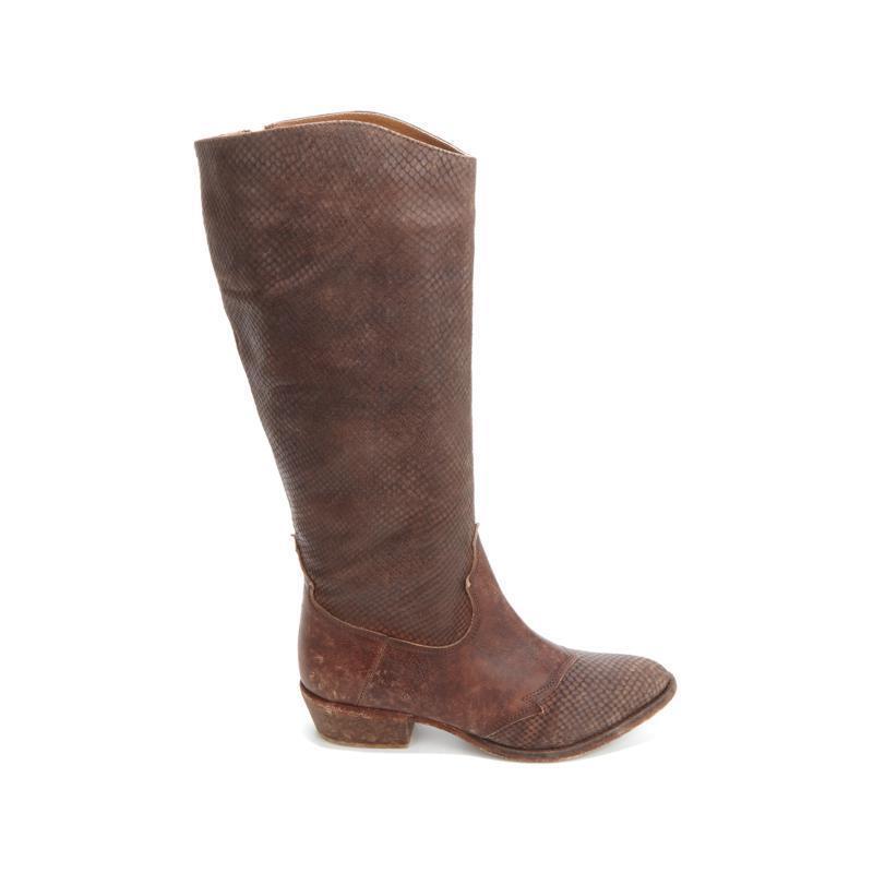 Diego di Lucca DiabloSnake EmbossedDistressed Leather Stiefel NIB Reg. 199 199 199 719162