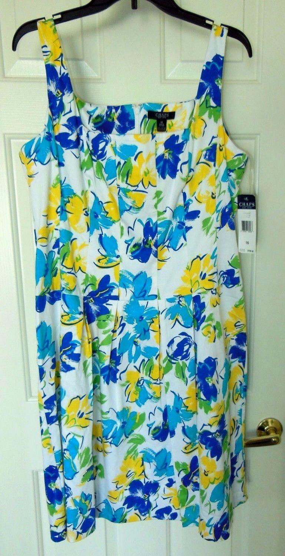 Chaps Dress Sundress-16 Gorgeous vibrant colors, excellent quality   NWT  100
