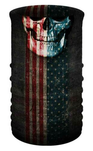 That/'s A Wrap Unisex Patriotic Skull Multi-Function Reversible Tube Face Cover