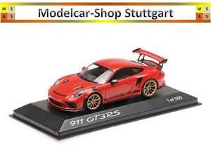 Porsche 911 Gt3 Rs Rouge Indien Minichamps 1:43 Édition Limitée 500 Wax02020084