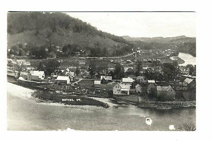 Bethel VT Aerial View Byron Miller RPPC Real Photo Postcard