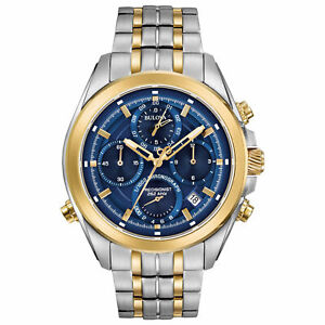 Bulova-98B276-Men-039-s-Blue-Dial-Chronograph-Authorized-Dealer