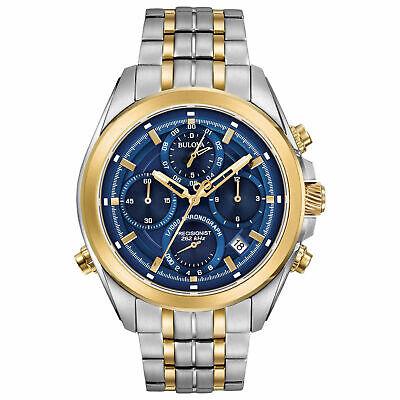 Bulova 98B276 Men's Blue Dial Chronograph - Authorized Dealer