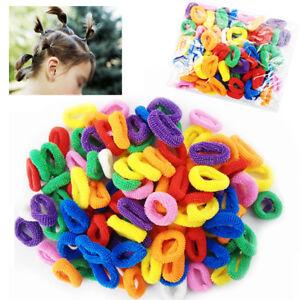 100-Elastici-Per-Capelli-Bambina-Codini-Colorati-Piccoli-Multiuso-Mini-Baby-755