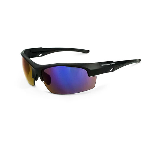 Crossfire Crucible Blue Mirror Matte//Black Safety Glasses Sun Shooting Z87+