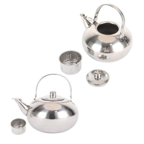 2 x Edelstahl Teekrug Leicht Teekanne mit Sieb wiederverwendbar Wasserkocher