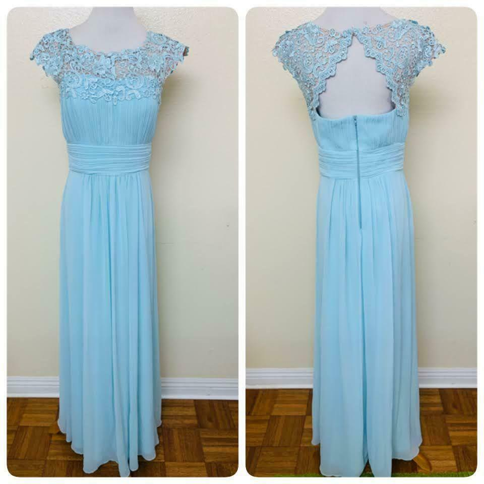 Ever Pretty Mother of the Groom/Bride Chiffon Gown Embellished Sz 6 Blue