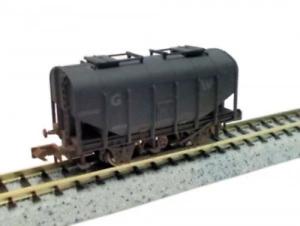 Dapol-2F-036-024-N-Gauge-GWR-Bulk-Grain-Hopper-Wagon-42315-Weathered