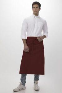 Chef Works Bistro Apron Half Apron Hot Pink NEW