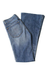 J-Brand-Womens-Wide-Leg-Flare-Jeans-Size-27-Blue-Cotton-Light-Wash-5-Pocket