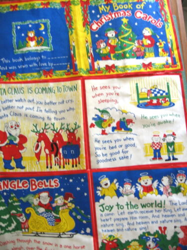 "/""My Book Of Christmas Carols/"" Pre Cut Soft Book Fabric Panel"