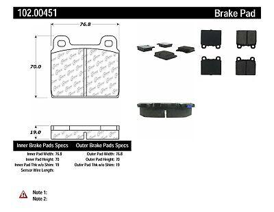 Disc Brake Pad Set-C-TEK Metallic Brake Pads Rear,Front Centric 102.00310