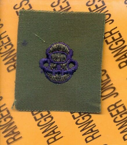 USAF Air Force SCUBA Bubble CCT STS Blue on OD Green cloth patch