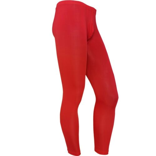 Hommes Soyeux stight-raccord Ardennes Pouch long johns thermal Pants Sous-vêtement Legging