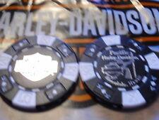 Black & White Poker Chip from Pacific Harley Davidson Honolulu, Hawaii