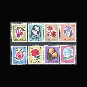 Flowers Albania Albania Sc 833-40 Nh Issue Of 1965
