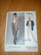 VOGUE PATTERN 2391 ~ DONNA KARAN JACKET & PANTS ~ SZ 6-10 ~ NEW