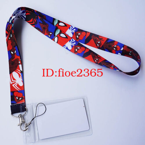 Card Marvel Spider-Man Lanyard Neck Strap ID Badge Charms KeyChain Cosplay Gift