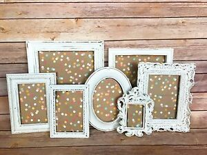 Image Is Loading 7 Pcs Rustic Picture Frame Set Wedding Decor